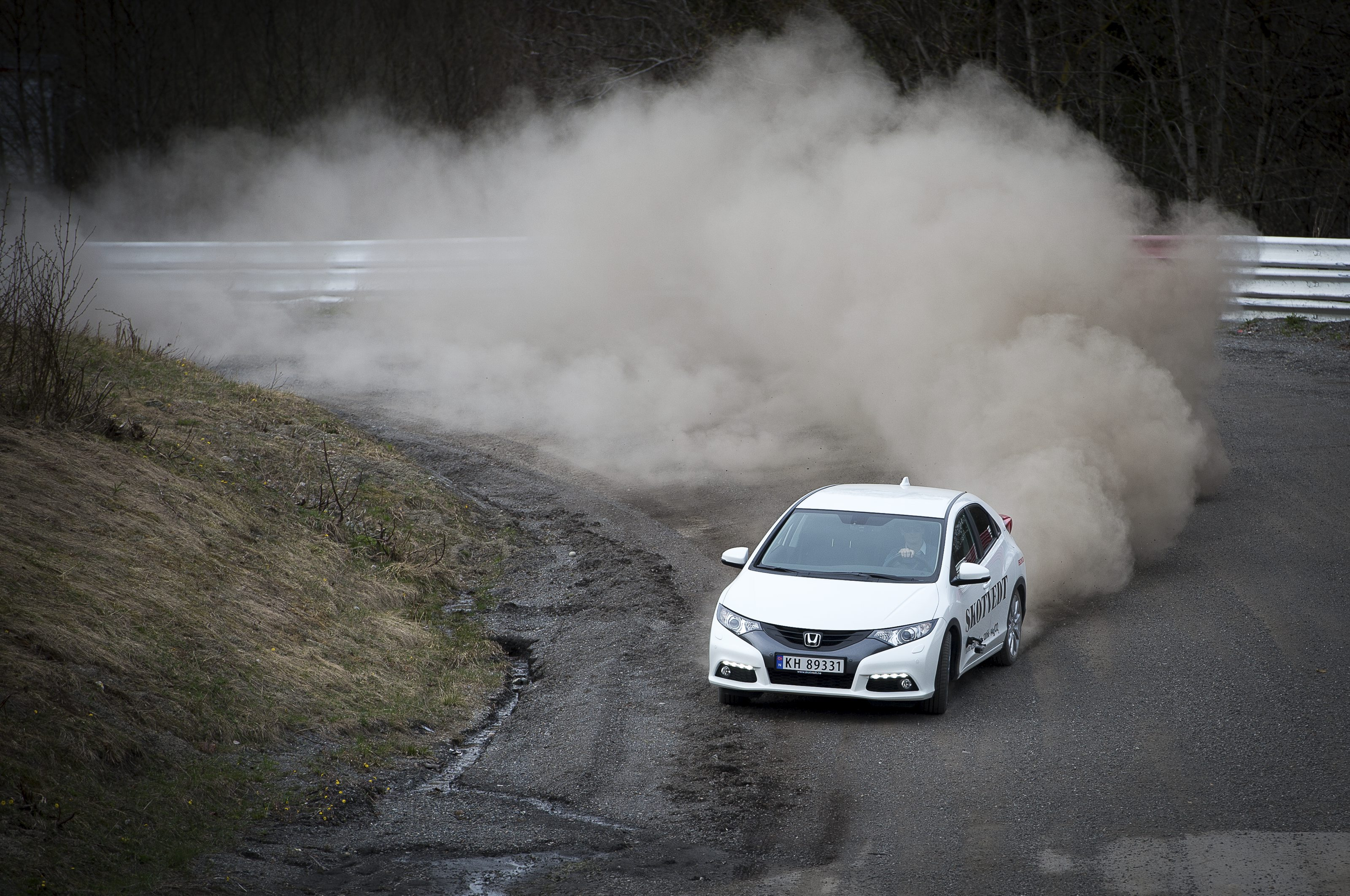 Test av Honda Civic p Lyngsbanen